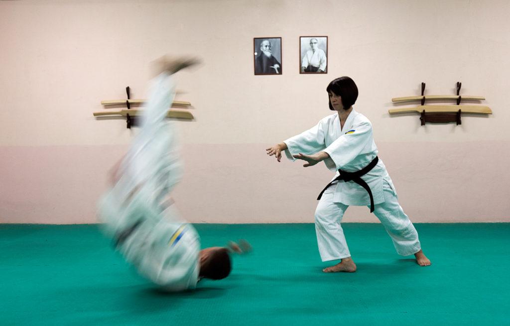 Инструкторская тренировка айкидо йошинкан Додзе Мейшинкан.