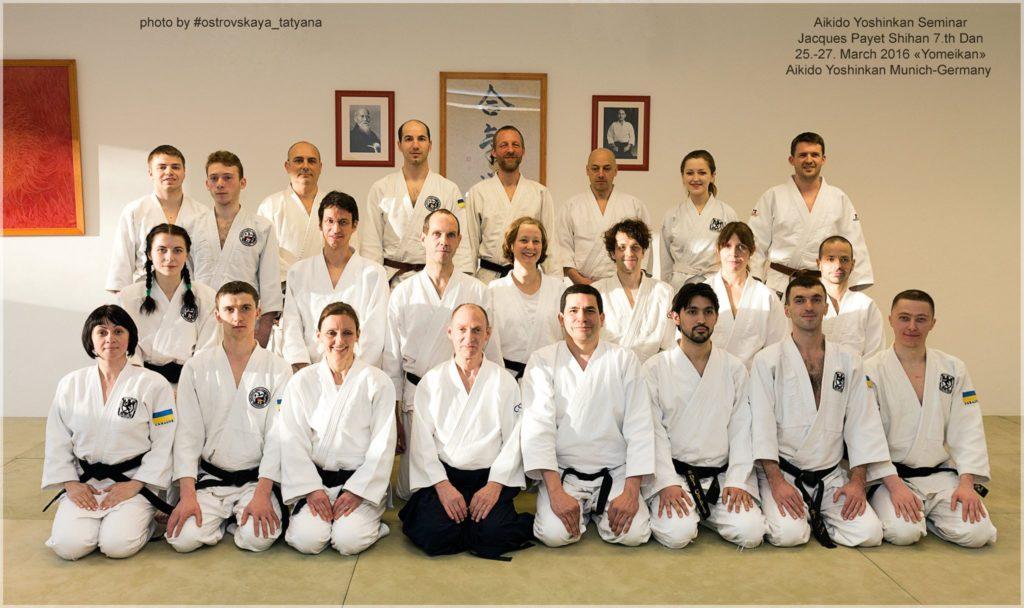 Aikido Yoshinkan Seminar. Jaques Payet Shihan 8 Dan. Munich, Germany.